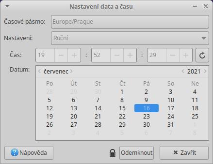 Obr.1 - Datum a čas