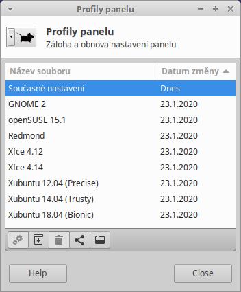 Obr. 1 . Profily panelu
